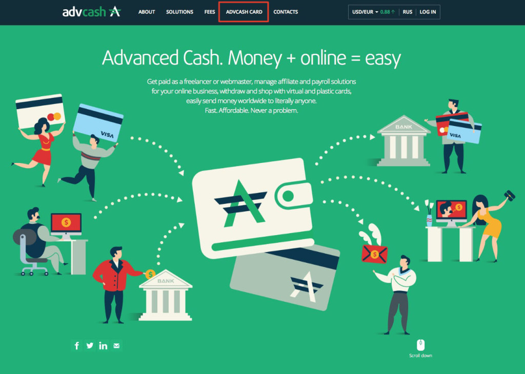Advcash - webmoney to card - perfect money to card
