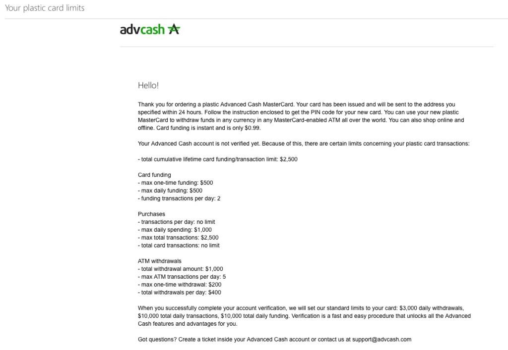 Advcash - webmoney to to cash ATM - perfect money to cash ATM